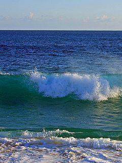 Nice Blue Sea Waves Mobile Wallpaper
