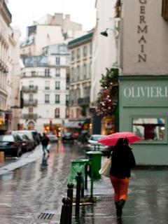 Raining In Paris Mobile Wallpaper