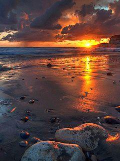 Sea Sunset Mobile Wallpaper