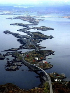 Atlantic Ocean Road In Norway Mobile Wallpaper