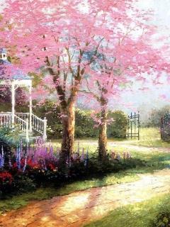 Pink Spring Tree Mobile Wallpaper