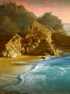 McWay Falls Big Sur State Park Mobile Wallpaper