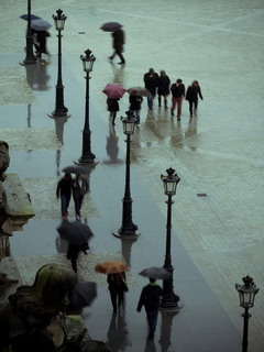 Rainy Day In Paris Mobile Wallpaper