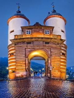 Old Bridge In Heidelberg Germany Mobile Wallpaper