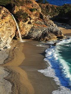 Falls Big Sur California Mobile Wallpaper