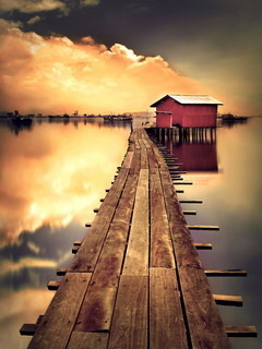 Way Home Dock Mobile Wallpaper