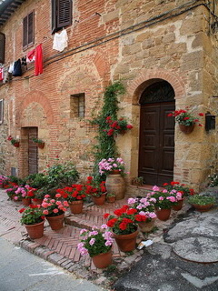 Flowers House Italy Mobile Wallpaper