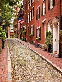 Nice Boston Street Mobile Wallpaper