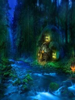 House In River Mobile Wallpaper