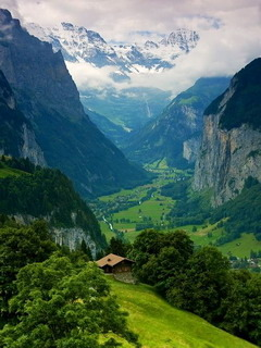 Valley Dream Interlaken Switzerland Mobile Wallpaper