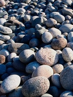 Beach Rocks Mobile Wallpaper