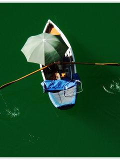 Boat Top View Mobile Wallpaper