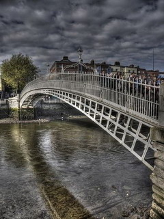 Ha Penny Bridge Dublin Ireland Mobile Wallpaper