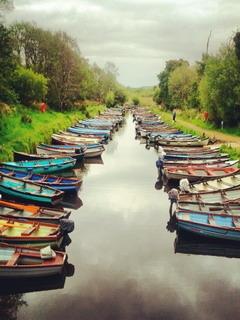 Beautiful Boats Killarney Ireland Mobile Wallpaper