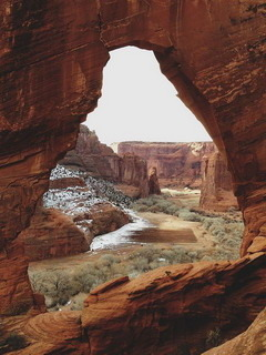 Canyon De Chelly's Window Rock Arizona Mobile Wallpaper