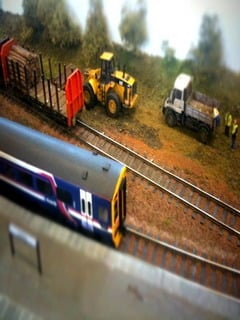 Tilt Shift Train Track Mobile Wallpaper