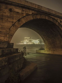 Night Under The Bridge Mobile Wallpaper