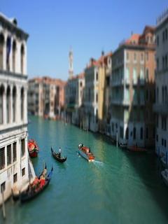 Tilt Shift Venice In Italy Mobile Wallpaper