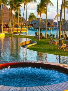 Resorts Pool Beautiful Nature  Mobile Wallpaper