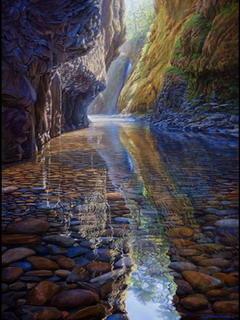 Oneonta Creek Columbia River Gorge Mobile Wallpaper