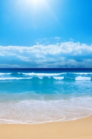Lovely Blue Nature Beach IPhone Wallpaper Mobile Wallpaper
