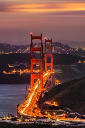 Lovely Bridge Night Lights IPhone Wallpaper Mobile Wallpaper