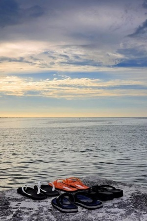 Slippers On Beach IPhone Wallpaper Mobile Wallpaper