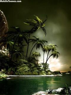 Tropic Island Mobile Wallpaper