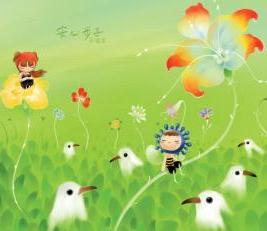 Flower And Birds Mobile Wallpaper
