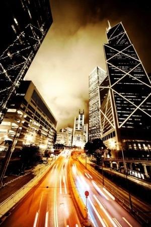 City Night Amazing Road Building Wallpaper Mobile Wallpaper