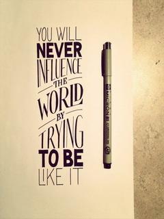 Never Influence World Mobile Wallpaper