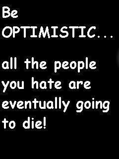 Be Optimistic Mobile Wallpaper