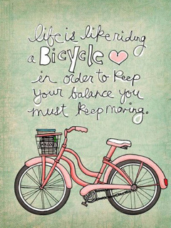 Life Is Like Bicycle Mobile Wallpaper