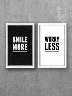 Smile More Worry Less Mobile Wallpaper