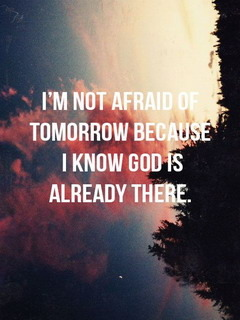 Not Afraid Of Tomorrow Mobile Wallpaper