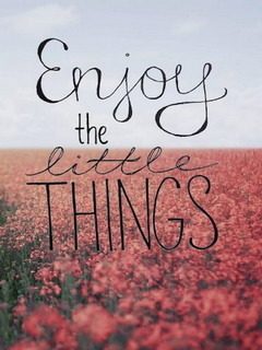 Enjoy Little Things Mobile Wallpaper