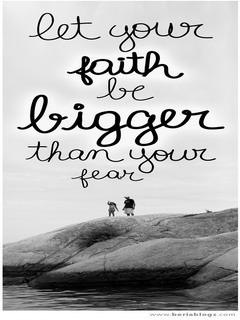 Faith Be Bigger Mobile Wallpaper