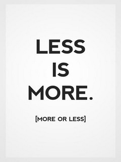 Less Is More Mobile Wallpaper