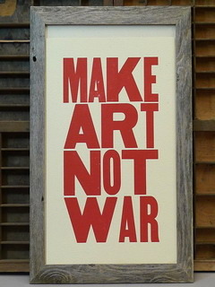 Make Art Not War Mobile Wallpaper
