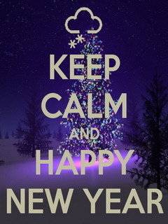 Keep Calm Happy New Year Mobile Wallpaper