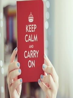 Keep Calm And Carry On Mobile Wallpaper