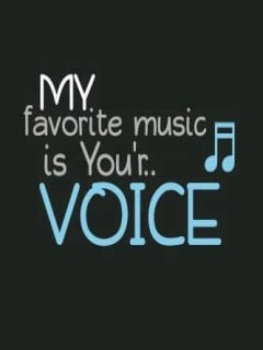 My Favorite Music Ur Voice Mobile Wallpaper