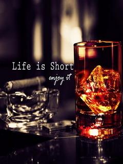 Life Is Short Mobile Wallpaper