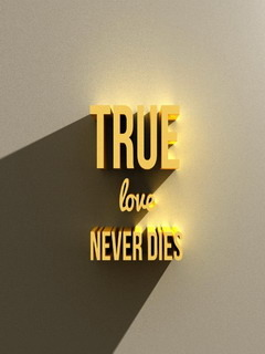 True Love Never Dies Mobile Wallpaper