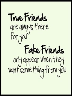 True Friends & Fake Friends Mobile Wallpaper