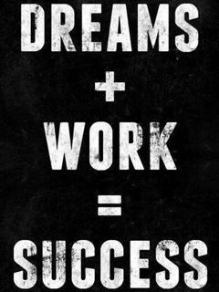 Dream Work & Success Mobile Wallpaper