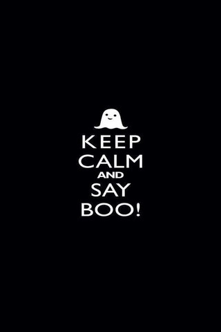 Keep Calm And Say Boo Mobile Wallpaper