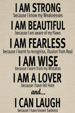 Lovely Quotes I Am Strong IPhone Wallpaper Mobile Wallpaper