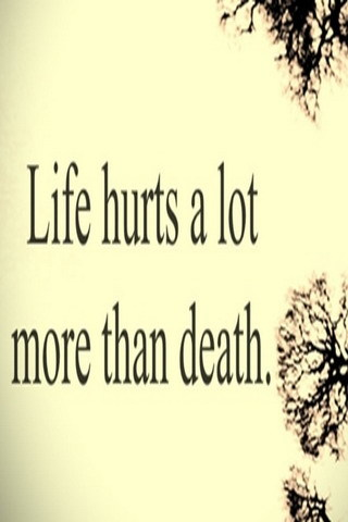 Awesome Love Sad Quotes Life Hurts A Lot Mobile Wallpaper