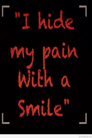 I Hide My Pain With Smile IPhone Wallpaper Mobile Wallpaper